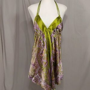 Beach Pool or Loungewear Paisley Shift Cover Up OS